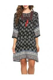 PEATAO Ethnic Style Dress Vintage Bohemian Tunic Dress Loose Crop Chiffon Kimono Dress Dresses - My时装实拍 - $23.33  ~ ¥156.32