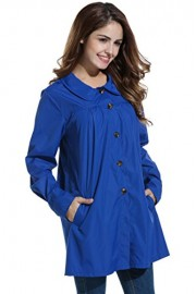 PEATAO Rain Coat, Women's Waterproof Lightweight Outdoor Casual Trench Jacket - My look - $27.99