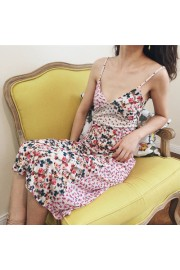 Patchwork printed sling long skirt deep - Mi look - $27.99  ~ 24.04€