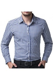 Paul Jones Casual Plaid Dress Shirts for Men Checkered Button Down Shirt CL6299 - My look - $7.99