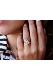 Pear Moissanite Diamonds Halo Engagement - My photos -