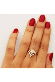 Pear diamond wedding ring set, Natural D - My photos -