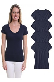 Pier 17 T Shirt For Women-Short Sleeve V-Neck Tops True To Fit 4-Pack - My look - $12.95