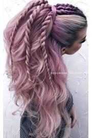 Pink Hair Braided Hair Styles  - My look -