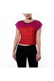 Pink Red Polka Dot Box Cut Flowy Tee - Passerella - $46.00  ~ 34.74€