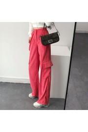 Pink corduroy loose high waist straight - Il mio sguardo - $27.99  ~ 24.04€
