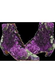 Pointed Toe Low Heel Booties - Catwalk - $56.54