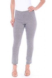 Popana Pull On Pants For Women Ankle Length - Casual Mid Rise Stretch Office Work Pants - My look - $24.99