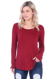 Popana Womens Casual Boyfriend Style T-Shirt Long Sleeve Top - Made in USA - My look - $14.99