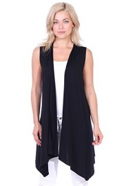 Popana Women's Casual Sleeveless Long Duster Cardigan Summer Vest Made in USA - My look - $18.99