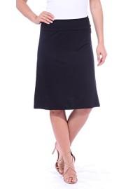 Popana Women's Casual Stretch Midi Knee Length Short Summer Skirt - Made in USA - My look - $14.43