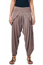 Popana Women's Casual Summer Boho Harem Jogger Pants Gaucho Culottes Made In USA - My look - $24.99