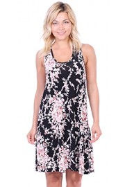 Popana Women's Casual Summer Floral Tank Dresses Midi Beach Sundress Made in USA - My look - $19.99