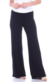 Popana Women's Casual Wide Leg Flare Comfy Palazzo Lounge Pants Made In USA - My look - $19.99