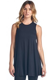 Popana Women's Sleeveless Tank Top Tunic - Loose Fit Flowy Tunic Tank for Leggings - Made in USA - My look - $18.99