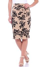 Popana Women's Stretch Pencil Skirt Knee Length High Waist for Work Made in USA - My look - $19.99