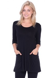 Popana Women's Tunics With Pockets - Loose Fit Round Neck Tunic Top To Wear With Leggings - Made In USA - My look - $19.99