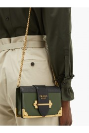 Prada Cahier Leather Cross-body Bag - My时装实拍 -