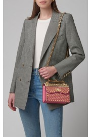 Prada Studded Lizard-Trimmed Bag - My时装实拍 -