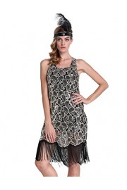 PrettyGuide Women 1920s Flapper Dress Sequin Paisley Racer Back Cocktail Gatsby Dress - O meu olhar - $15.99  ~ 13.73€
