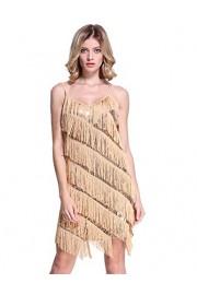 PrettyGuide Women Sequin Fringe 1920s Flapper Inspired Party Latin Dress - O meu olhar - $23.99  ~ 20.60€