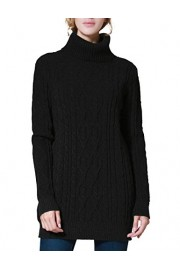 PrettyGuide Women's Long Sweater Turtleneck Cable Knit Tunic Sweater Tops - My look - $25.99