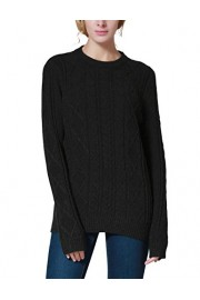 PrettyGuide Women's Sweater Crewneck Cable Knit Long Sleeve Pullover Tops - O meu olhar - $25.99  ~ 22.32€