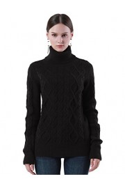 PrettyGuide Women's Turtleneck Sweater Long Sleeve Cable Knit Sweater Pullover Tops - My look - $28.99