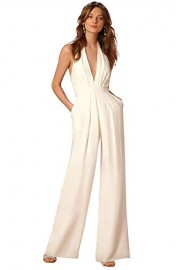 ROSE IN THE BOX Sexy Deep V-Neck Jumpsuits Formal Sleeveless Halter Wide Leg - Moj look - $26.55  ~ 22.80€