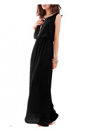 ROSE IN THE BOX Women Dress for Party, Women Summer Chiffon Maxi Dress Elegant Sleeveless Long Dress - Moj look - $23.99  ~ 20.60€