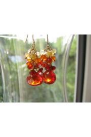 Red Zircon Gemstone Cluster Earrings - Minhas fotos - $45.00  ~ 38.65€