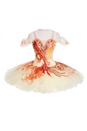 Red and orange ballet dress - Mój wygląd -