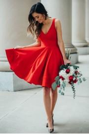Red mini dress - My look -