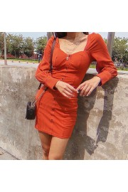 Retro square neckline single-breasted la - Il mio sguardo - $39.99  ~ 34.35€