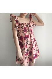 Rose Garden Print Girl Ruffle Dress - My时装实拍 - $27.99  ~ ¥187.54