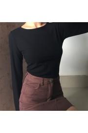 Round neck slim stretch high waist short - Myファッションスナップ - $25.99  ~ ¥2,925