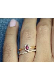 Ruby & Diamonds Unique Wedding Rings Set - My photos -