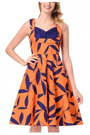 Ruiyige Hepburn Style Dress A-Line Vintage Dresses for Women Sleeveless Swing Party Dress - Myファッションスナップ - $15.99  ~ ¥1,800