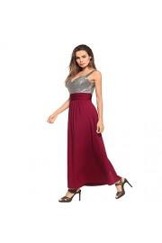 Ruiyige Strapless Bridesmaid Dress Panelled Sleeveless V Neck Dress Pure Color - Myファッションスナップ - $40.25  ~ ¥4,530
