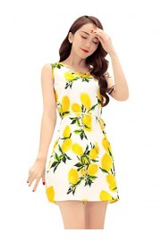 Ruiyige Vintage Womens Classy Floral Sleeveless Party Cocktail Dress - Myファッションスナップ - $22.99  ~ ¥2,587
