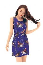Ruiyige Women's Boho Floral Print Flowy Party Evening Swing Dress S-2XL - Myファッションスナップ - $22.99  ~ ¥2,587