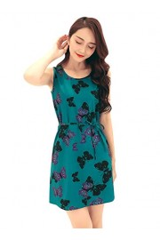 Ruiyige Women's Summer Sleeveless Cute Print Mini Flare Dress - Myファッションスナップ - $20.99  ~ ¥2,362