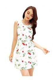 Ruiyige Women's Vest Sleeveless Vintage Tea Dress with Belt - Myファッションスナップ - $20.99  ~ ¥2,362