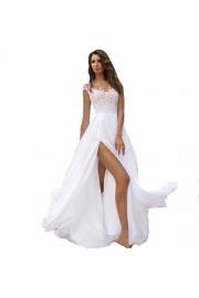 SIQINZHENG A Line Chiffon Evening Dresses Long Prom Dresses for Juniors - Il mio sguardo - $89.99  ~ 77.29€