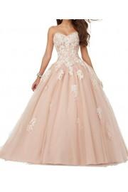 SIQINZHENG Ball Gown Lace Up Wedding Dresses Appliques Bridal Gowns - Il mio sguardo - $149.99  ~ 128.82€