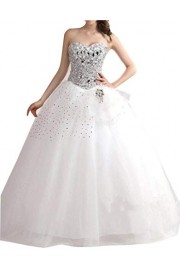 SIQINZHENG Ball Gown Lace Up Wedding Dresses Long Bridal Gowns - Il mio sguardo - $169.99  ~ 146.00€