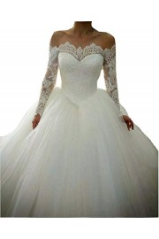 SIQINZHENG Ball Gown Lace up Wedding Dresses White Bridal Gowns - Il mio sguardo - $159.99  ~ 137.41€