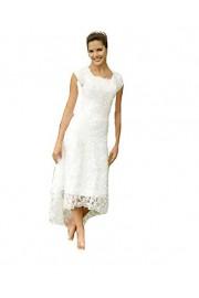 SIQINZHENG Sheah Lace Wedding Dresses Long Hi-Lo Bridal Gowns - Il mio sguardo - $99.99  ~ 85.88€