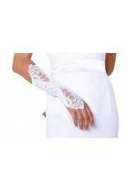 SIQINZHENG White Lace Wedding Glover Long Bridal Accessories - Il mio sguardo - $5.99  ~ 5.14€