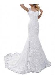 SIQINZHENG White Mermaid Dress Lace Wedding Gowns 2019 - Il mio sguardo - $99.99  ~ 85.88€